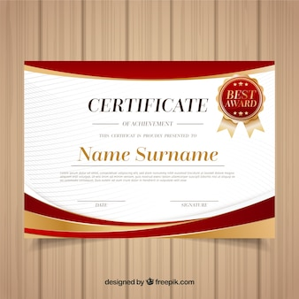 Certificado de modelo elegante