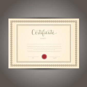 Certificado decorativa ou desenho diploma