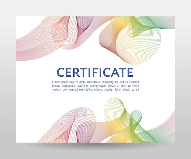 Certificado. diploma de modelo