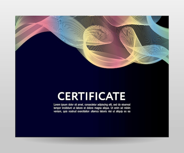 Certificado. diplomas de modelos