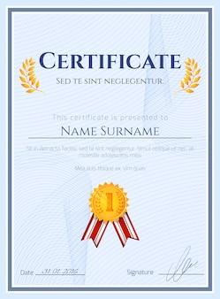 Certificado do vencedor com selo