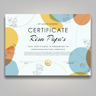 Certificado flor boho
