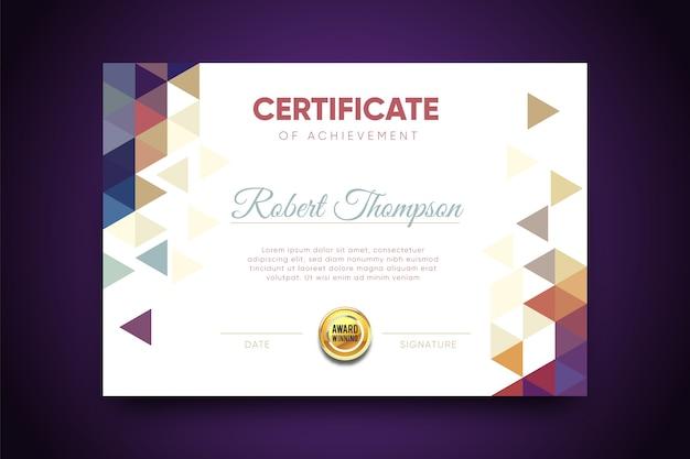 Certificado geométrico abstrato de modelo