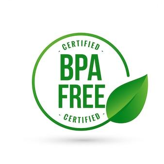 Certificado livre símbolo bisfenol bpa