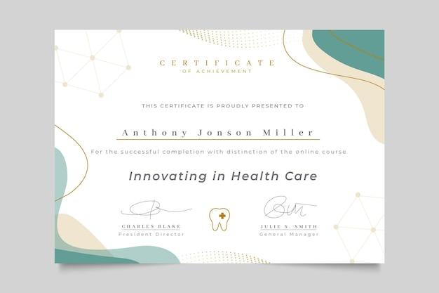 Certificado médico elegante abstrato