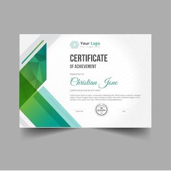 Certificado moderno abstrato