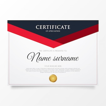 Certificado moderno de agradecimento