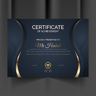 Certificado moderno geométrico de modelo de conquista