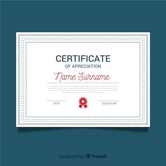 Certificado ornamental de apreciação