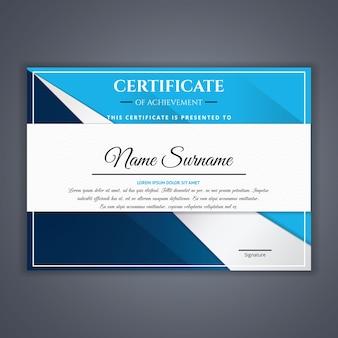 Certificado para o modelo de realização