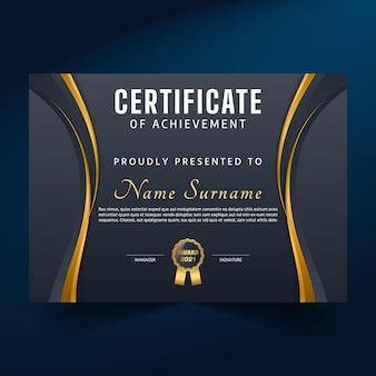 Certificado premium de realização