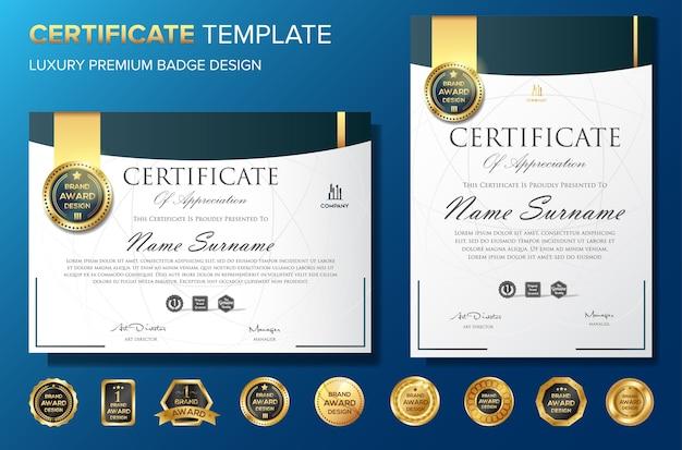Certificado profissional bakcground modelo luxo vector