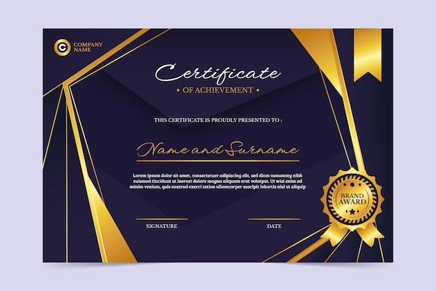 Certificado simples de funcionário do mês