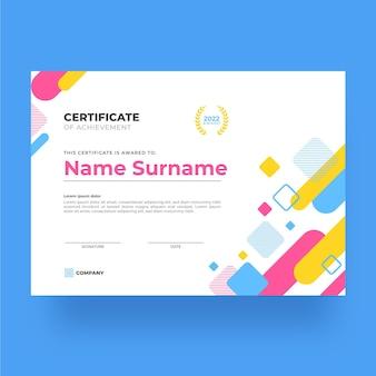 Certificado simples de modelo de realização