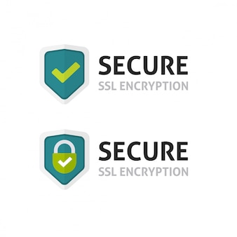 Certificado ssl ou símbolo de escudo de criptografia segura