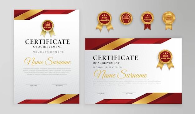 Certificado vermelho e ouro