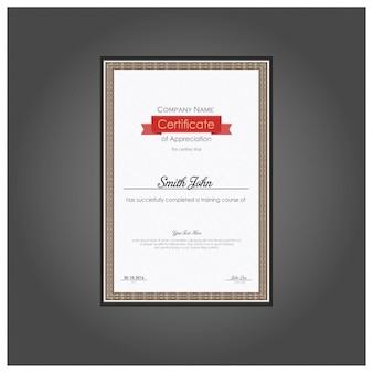Certificado vertical de apreciação