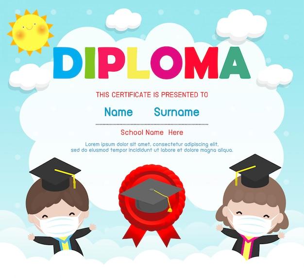 Certificados de jardim de infância e ensino fundamental