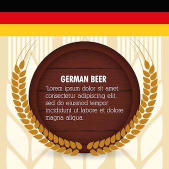 Cerveja alemã de qualidade premium
