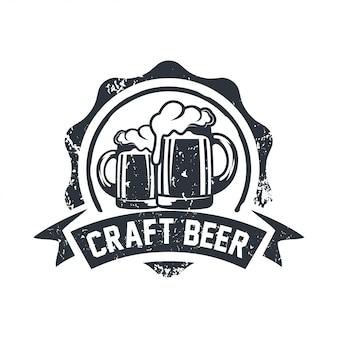 Cerveja artesanal Vintage / Brewery Label inspiração de design de logotipo