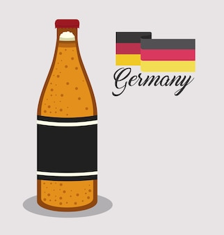 Cerveja bebida ale alemanha vector illustration design