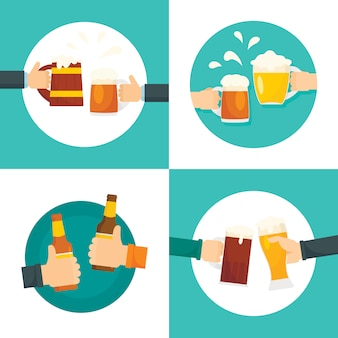 Cerveja cheers garrafas de vidro
