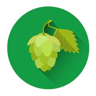 Cerveja de planta natural de ícone de lúpulo feriado festivo de oktoberfest