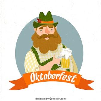 Cerveja e barba alemã plana