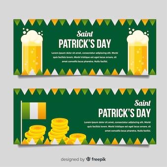 Cerveja e dinheiro bandeira do st patrick