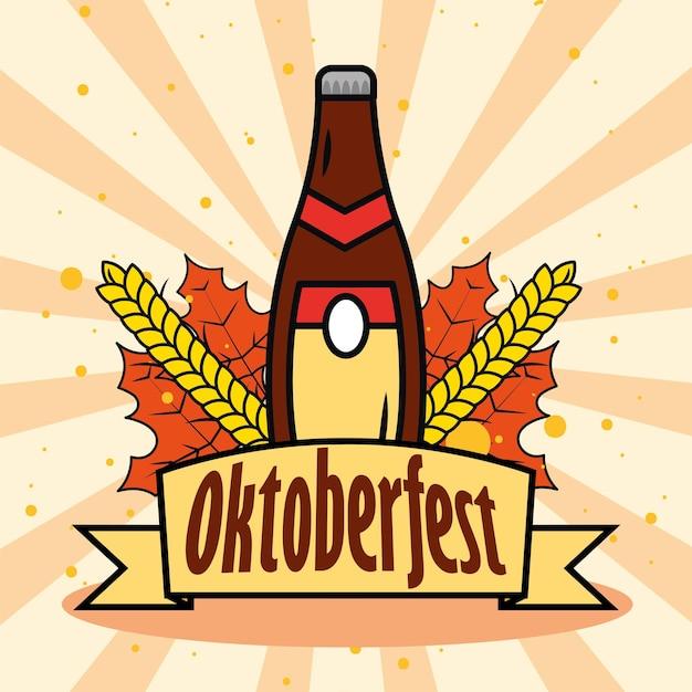 Cerveja e fita da oktoberfest