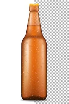Cerveja em garrafa transparente