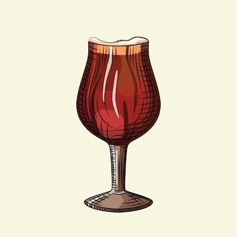 Cerveja escura provinha de vidro. cartaz de bebida de álcool.