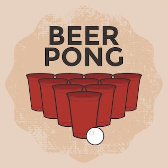 Cerveja pong beber jogo
