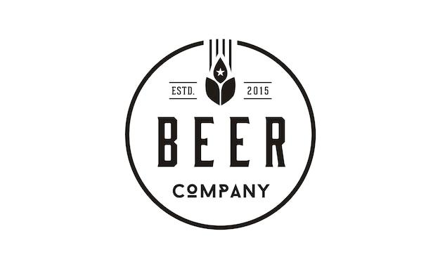 Cerveja trigo logo design inspiração
