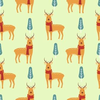 Cervo bonito sem costura de fundo
