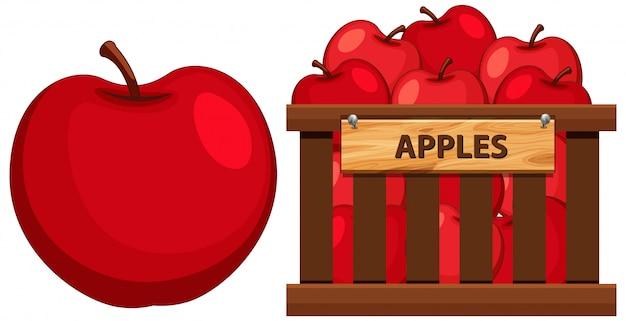Cesta cheia de maçãs