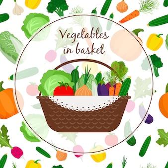 Cesta com legumes