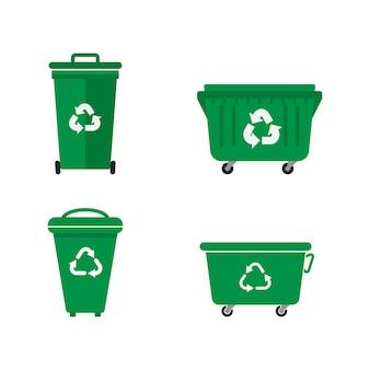 Cesta de lixo ilustração em vetor ícone design modelo