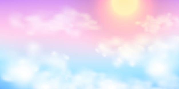 Céu abstrato arco-íris pastel fundo gradiente conceito de ecologia