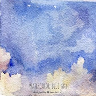 Céu abstrato da aguarela