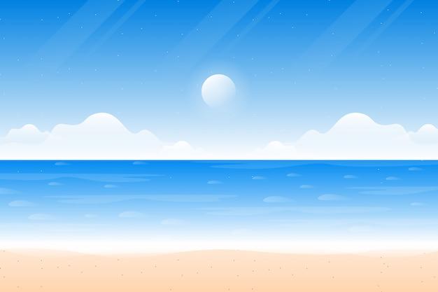 Céu azul cenário na praia e no mar