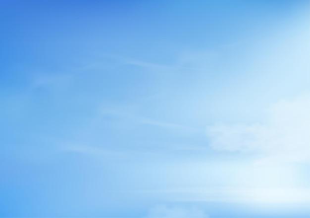 Céu azul com nuvens altostratus. céu dos desenhos animados com nuvens cirros.