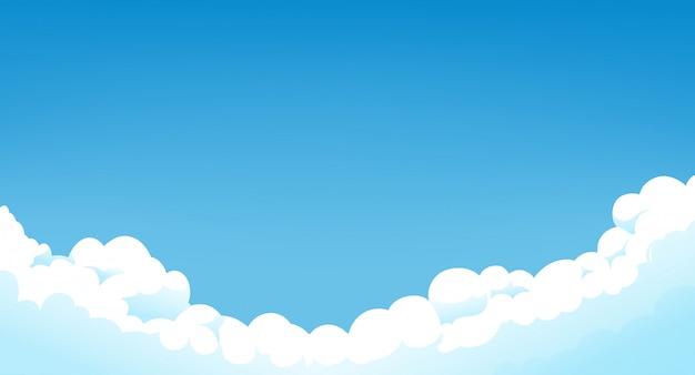 Céu azul com nuvens brancas dia ensolarado