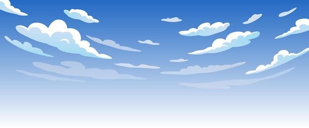 Céu azul com nuvens brancas e dia ensolarado Vetor Premium