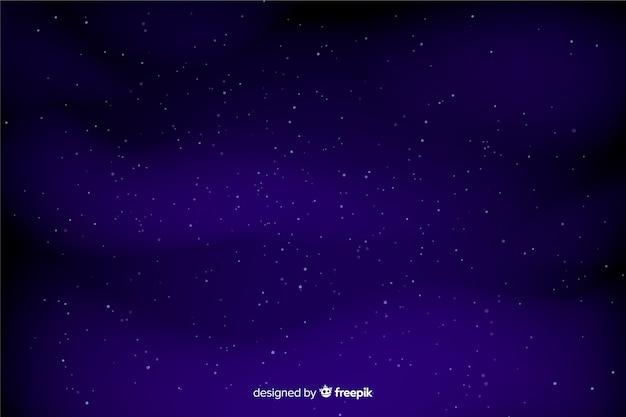 Céu azul escuro com fundo de estrelas