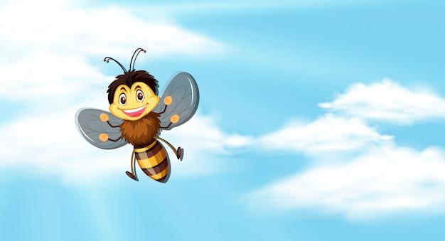 Céu com abelha voando