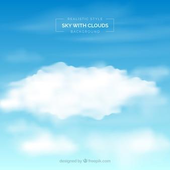 Céu, com, nuvens, fundo, em, realístico, estilo