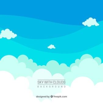 Céu, com, nuvens, fundo