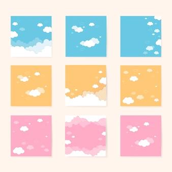 Céu, com, nuvens, padrão