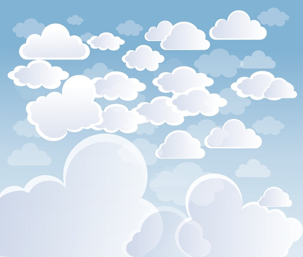Céu com nuvens vector